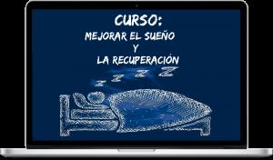 portada del curso para mejorar el sueño y la recuperacion sobre un ordenador