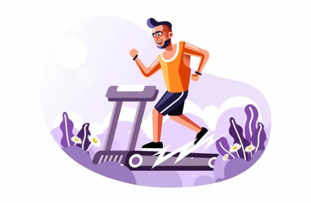 hombre haciendo cardio en cinta de correr
