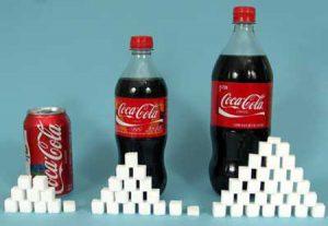 el azúcar de la cocacola