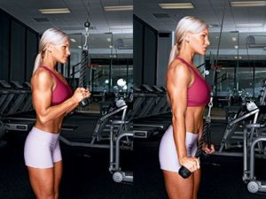 extension de triceps con cuerda