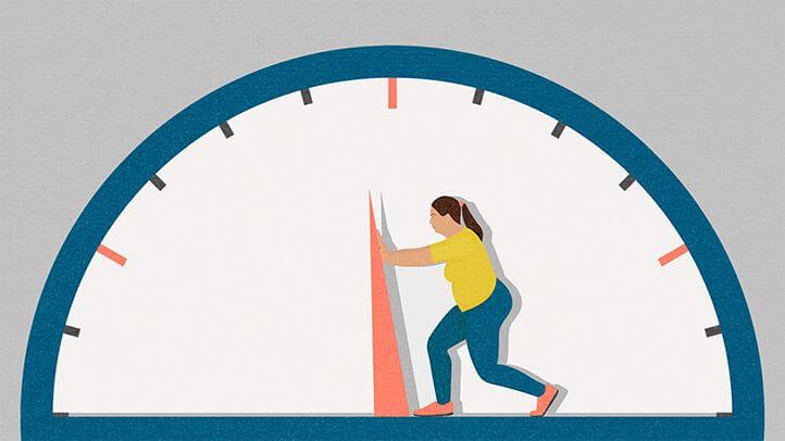 mujer que quiere perder peso